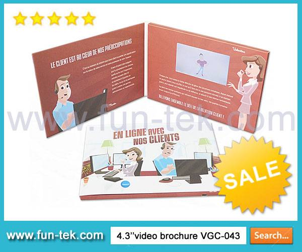 Bespoke 4.3 Inch LCD Video Brochure Card VGC-043 Multi-Button A5 Layout