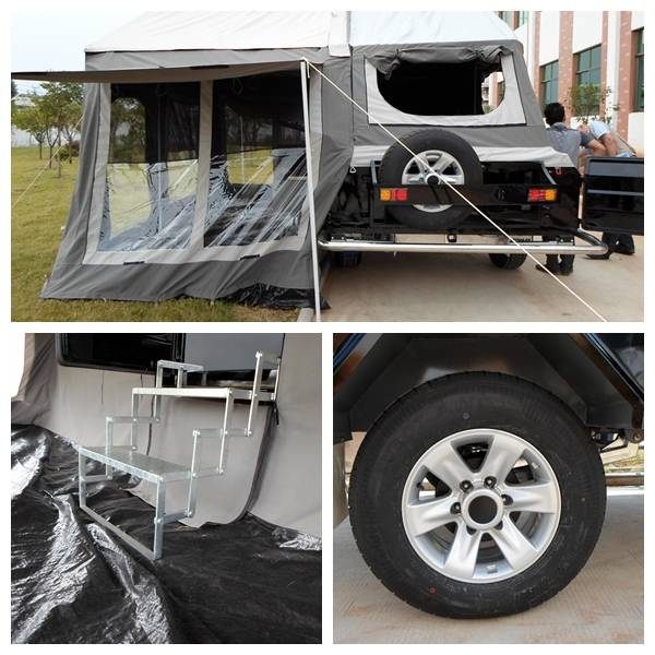 ADRs 62 Off road camping trailer with 16inch 235/75 R16 tyre and combined 20L jerry can holder with