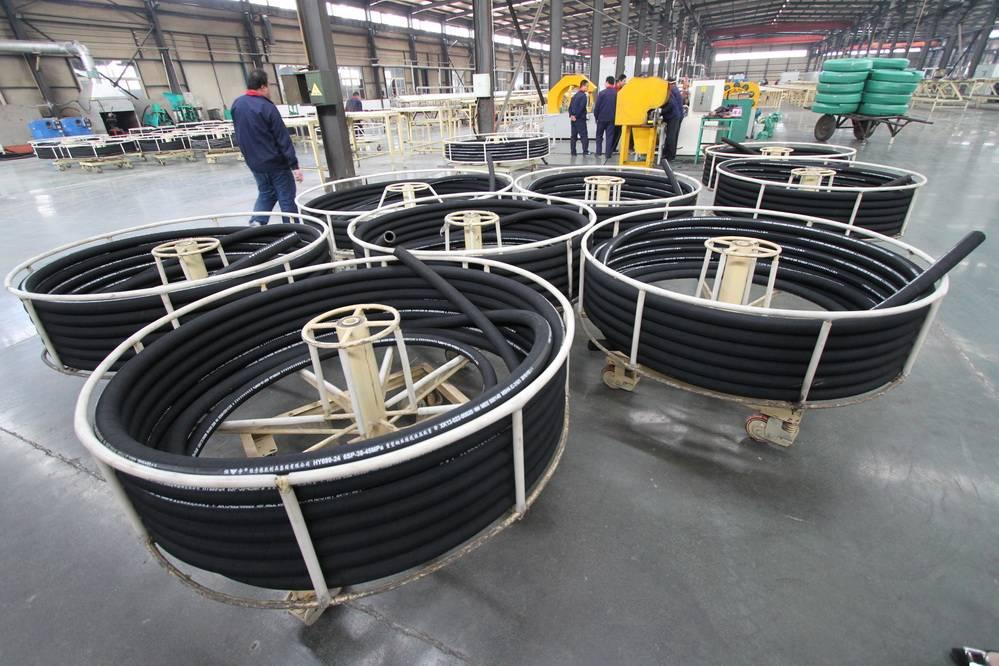 concrete pump reinforced rubber hose