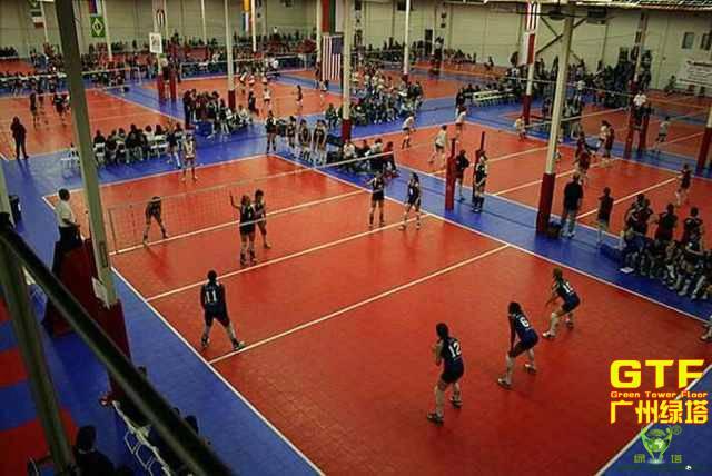 Indoor Volleyball Sports PP Interlocking Flooring