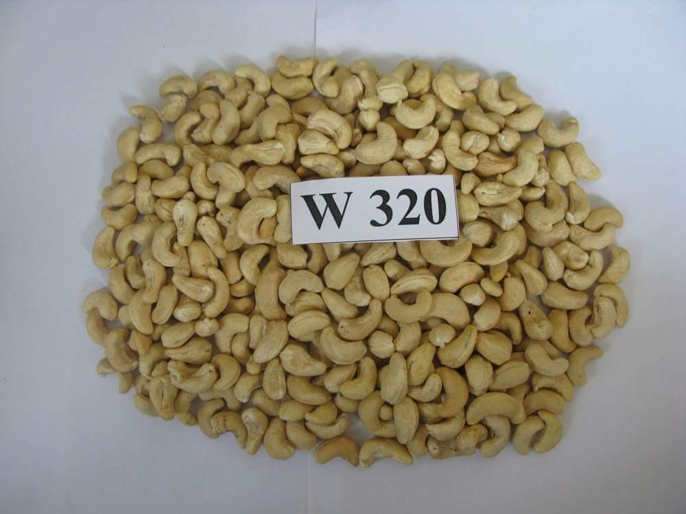 Cashew kernels w320, w240, w180