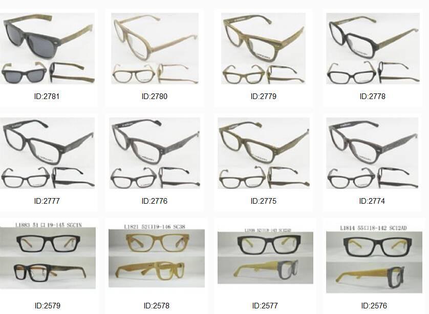 Luxury acetate eyeglasses sunglasses wooden look sun glasses