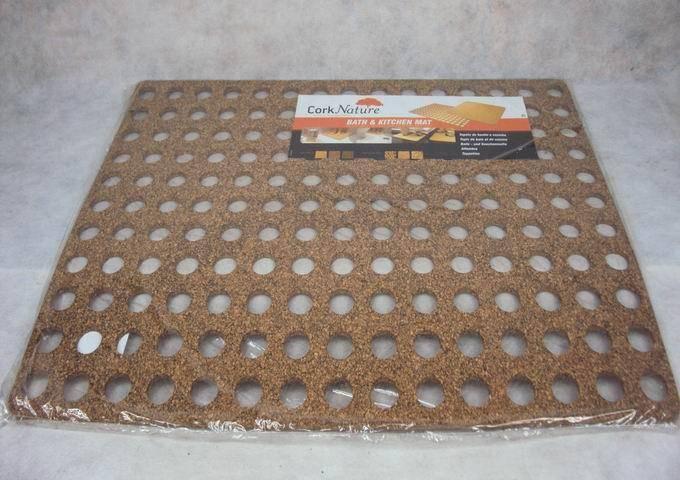 cork rubber bath mat