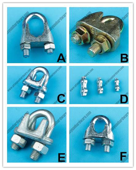 Factory supplier electro galvanized wire rope clamp