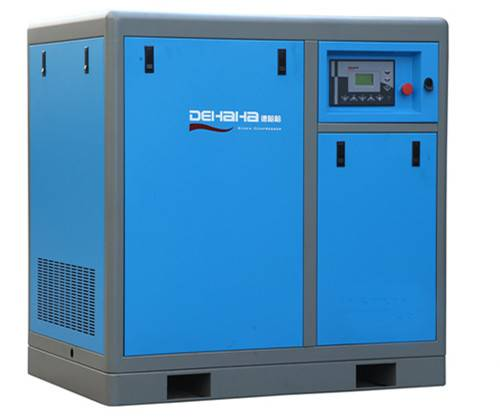 7.5kw variable frequency belt driven screw air compressor