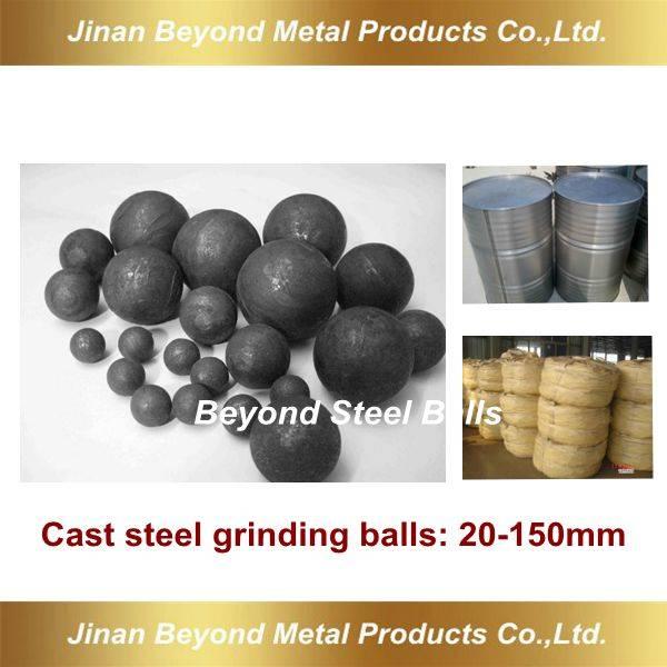 Cast grinding balls