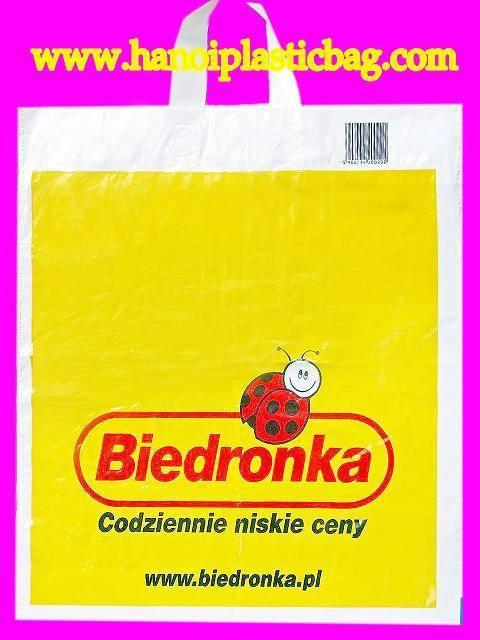 loop plastic handle bag