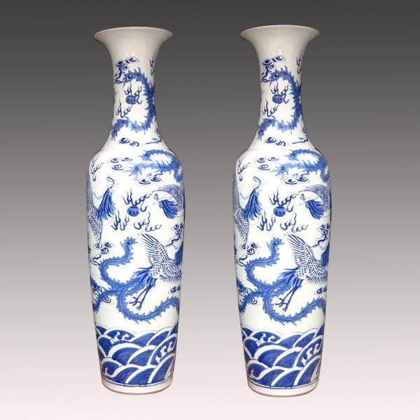 Unique design chinese big ceramic vase