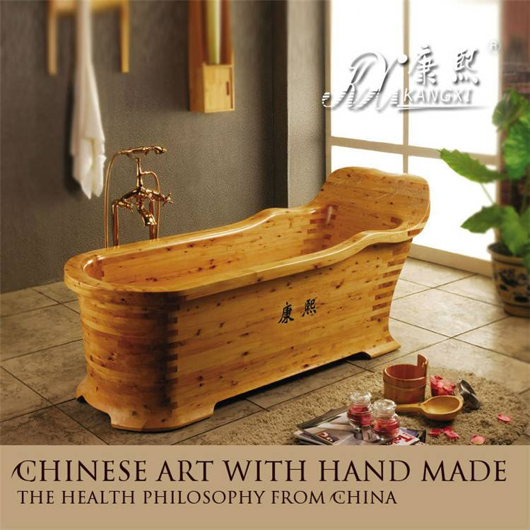Winter soaking tub wooden bath tub made in china