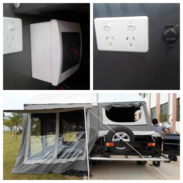 ADRs 62 Off road camping trailer with 220V Australia socket and 12V cigarette lighter