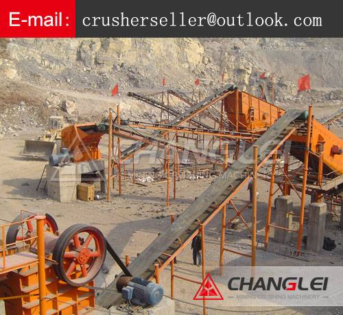 complete set of stone breaker crushing powder plant