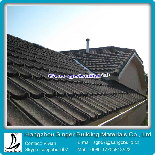 colorful stone coated metal roofing sheets