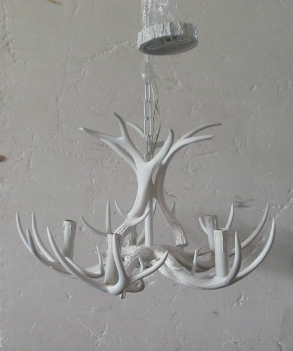 deer antler chandelier/antler chandelier/white antler chandelier/home decor chandelier/resin antler