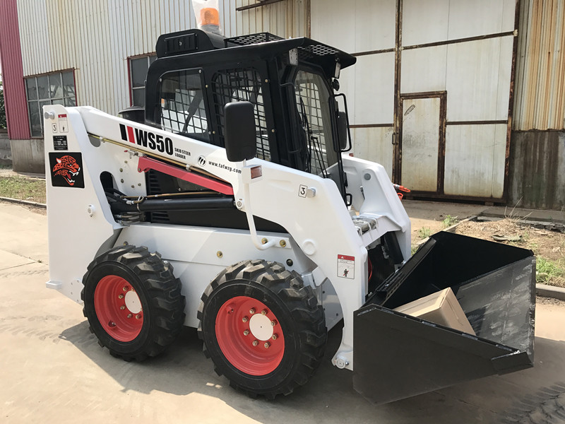 china brand new mini skid steer wheel loader fuwei skid loader with low price