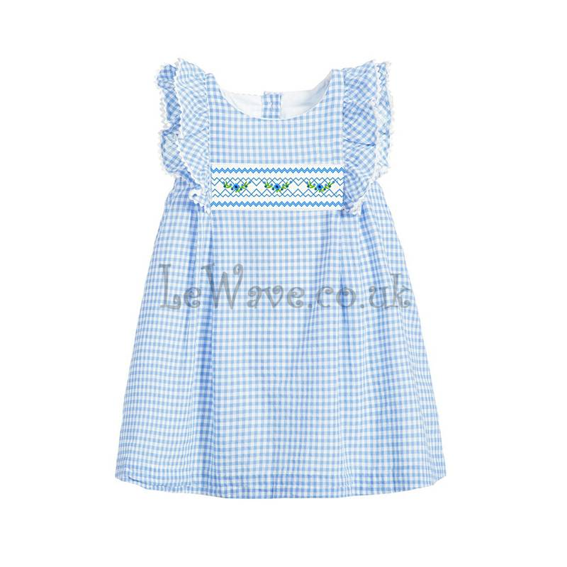 Beautiful gingham smocked dress for girl