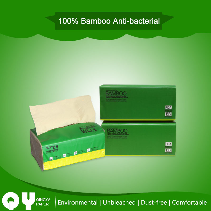virgin bamboo unbleached soft facial tissue paper
