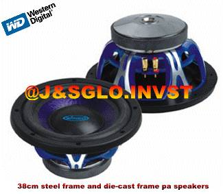 38cm steel frame and die-cast frame pa speakers