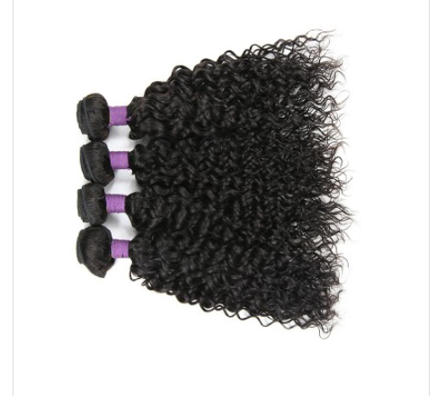 [9A]4 Bundles Indian Hair Weave Water Wave with 360 Lace frontal