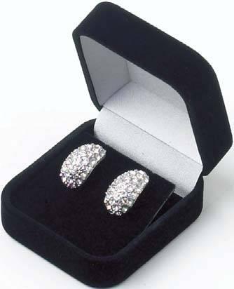 earring box/velvet jewelry box/velvet earring box/earring box/velvet earring case