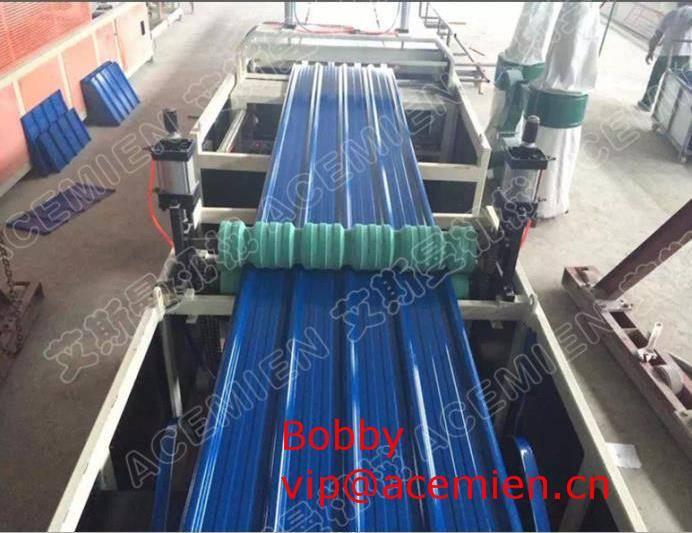 1130mm PVC corrugated sheet metal roof making machine