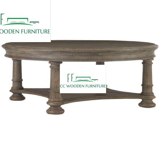 natural oak wood coffee table tea table