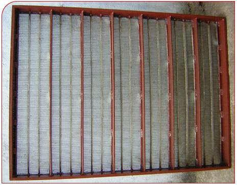 Stainless steel mine screen plate