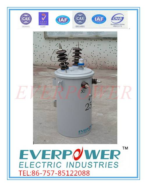 IEC pole-mounted single phase transformers