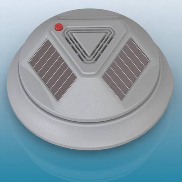 Solar wireless infrared smoke sensor