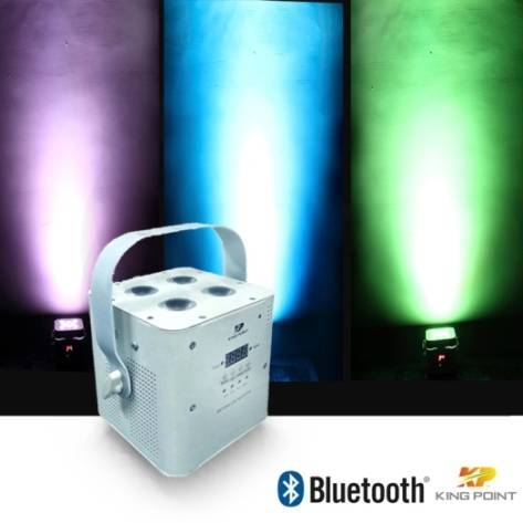 Kingpoint / KP 410W RGBA/RGBW Bluetooth Battary Parcan for Stage Lighting,DJ Disco (KPS-891)