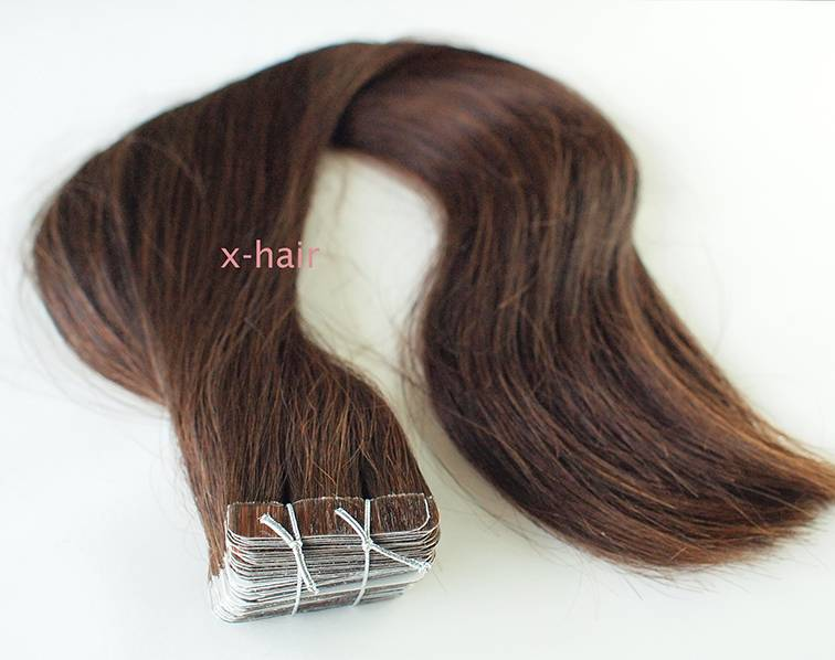 Tape hair extensions, 100% Remy human hair various lenghts