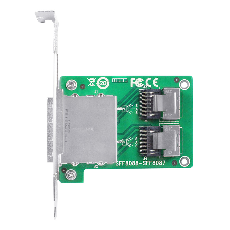 Linkreal 2 Port SFF-8088 to SFF-8087 Transfer Card
