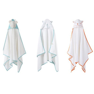 Pureborn Baby bath Towel newborn children hooded animal cartoon blankets absorbent bath towel for c