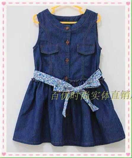 2016 fashion style high quality 100% cotton korean kids dress