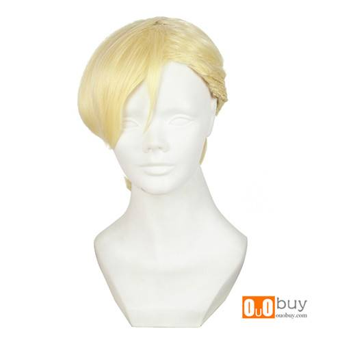 Selling Sakamoto Mai Kokkudearimasu 8823SenPai Light Gold Three-Ply Single Pontail Cosplay Wig