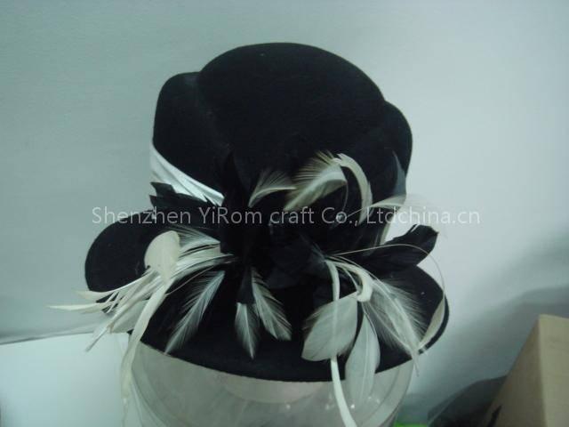 YWWF11017 wool felt hat, women felt hat, dress hat