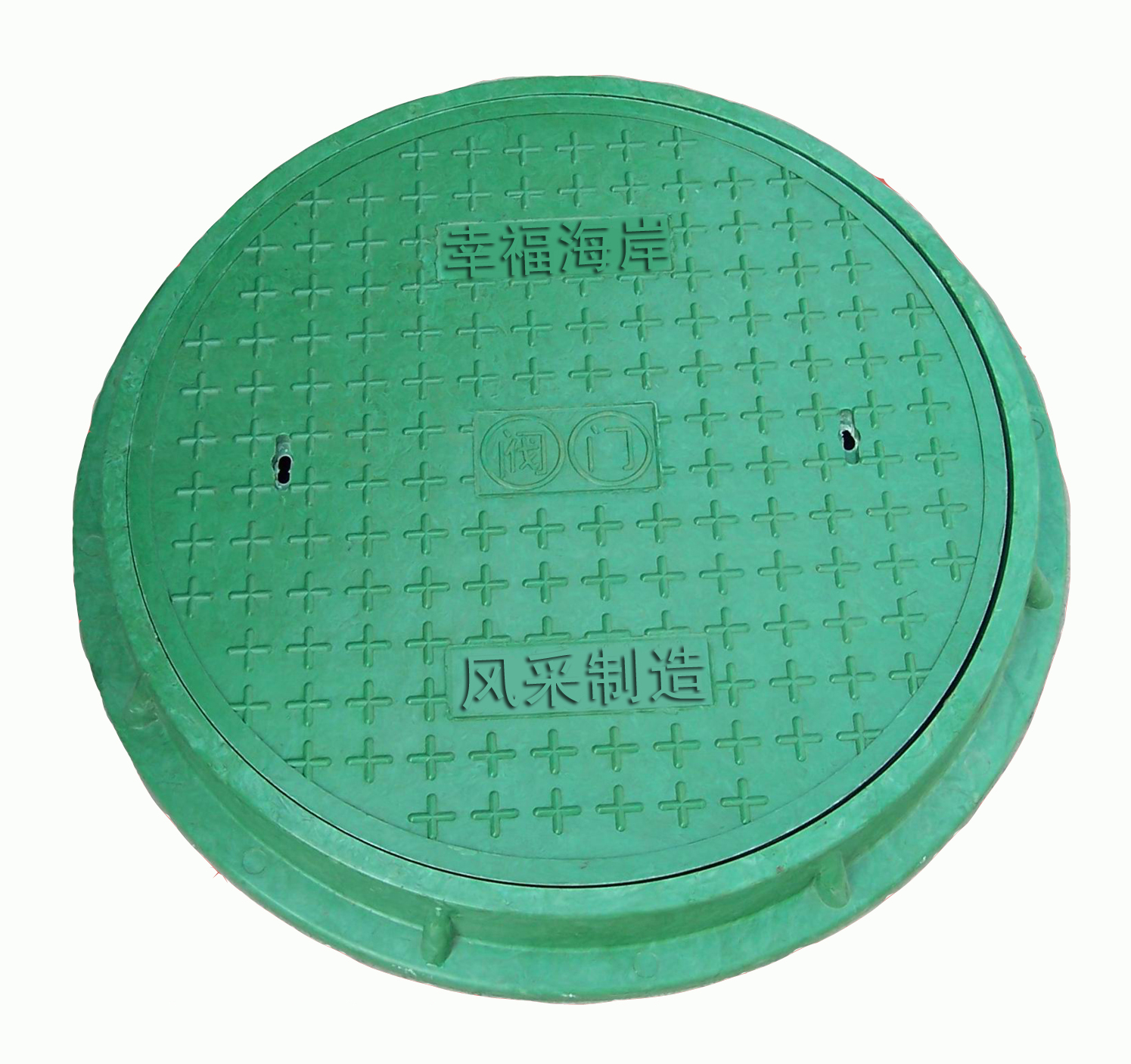 Customized anti-theft EN124 SMC composite round manhole cover with CE