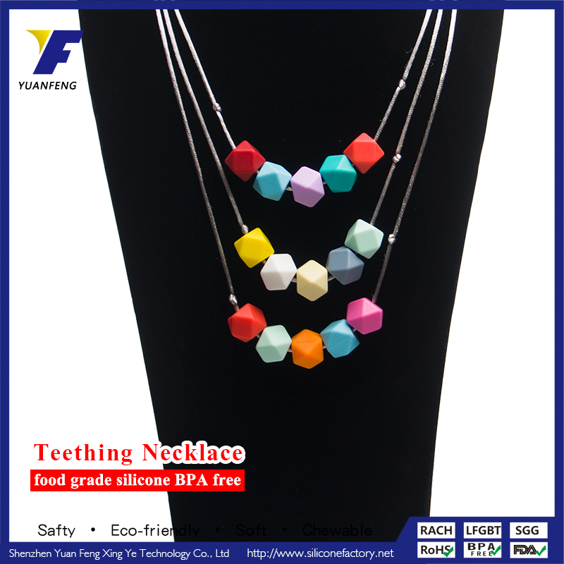 Food Grade Silicone Teething Pendant Necklace