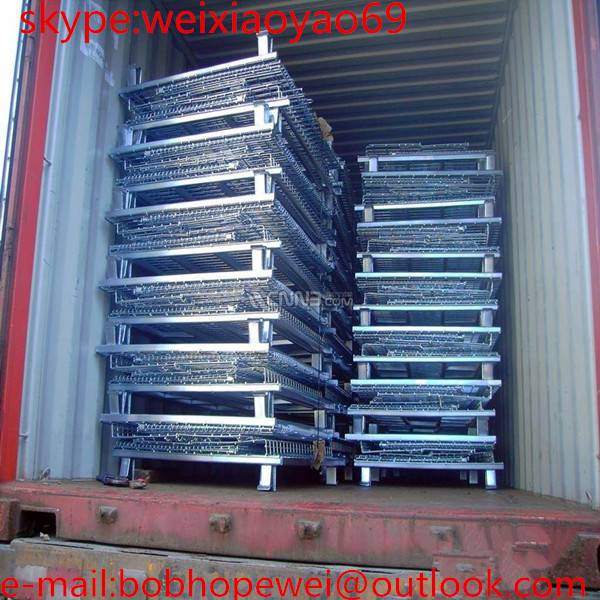 2015 New design good quality folding steel storage cage