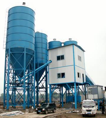 Concrete Mixing Plant (HZS180) with capacity of 180m3/h