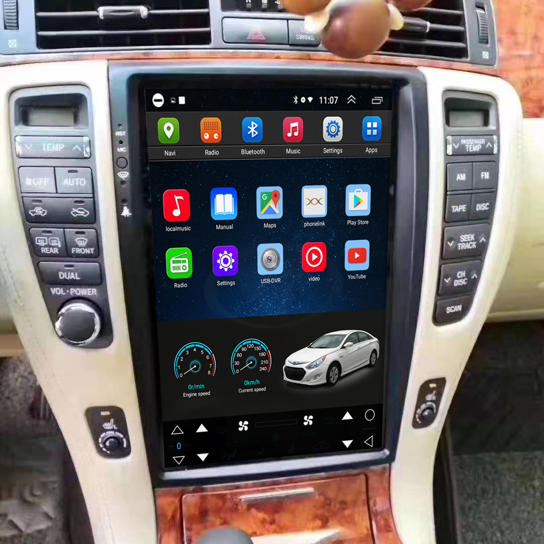 Tesla Style 12.8 Inch Android Car Multimedia Navigation For Toyota Crown 2006-2009