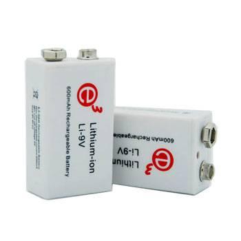 Soshine New 9V 600mAh Li-polymer Rechargeable Battery