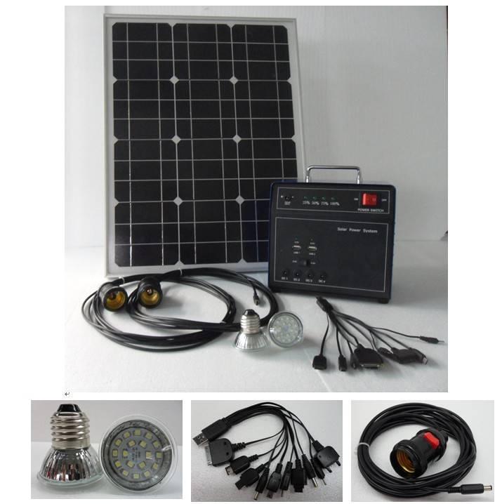 Mini Solar Home Lighting System 100W-5W