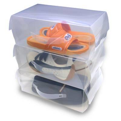 Clear plastic shoes box