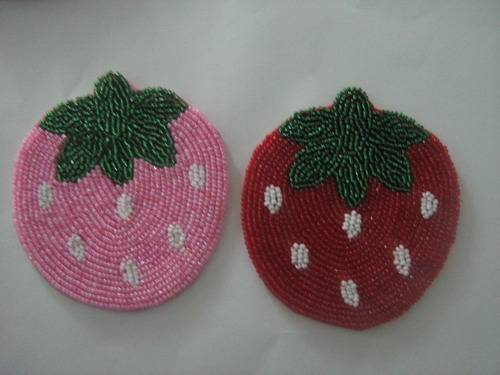 supply tea cup cushion  by handmade in crystal glass beads