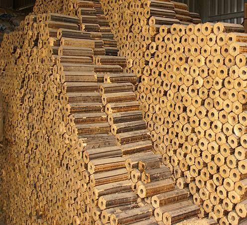FIREWOOD MADE FROM RICE HUSK