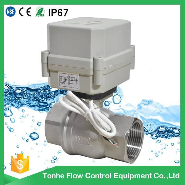 DN32 1 1/4 DC12V/24V Stainless Steel 304 316 Electric Valve