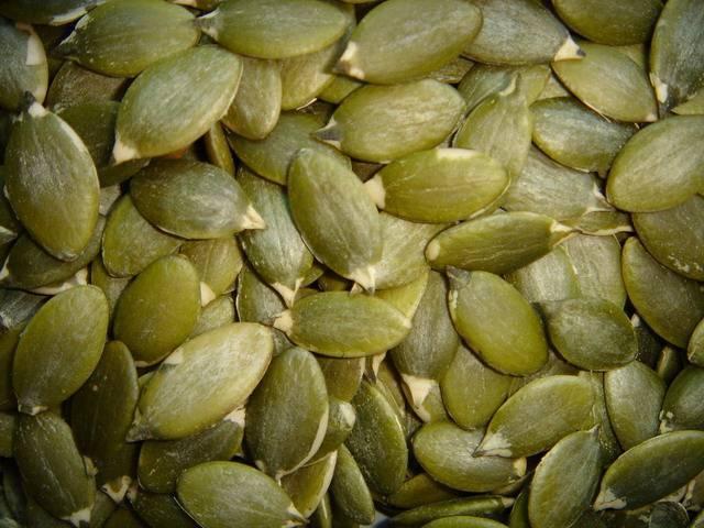 white pumpkin seeds kernels