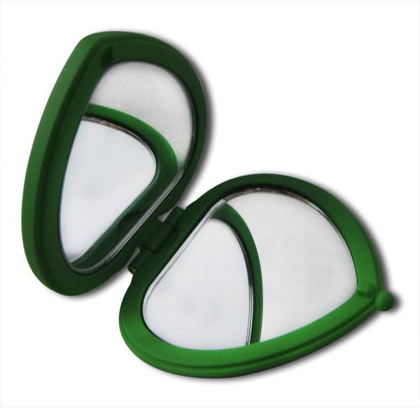 Compact Style Makeup Mirrors, Cute Design, Heart-shaped, Optional Colors