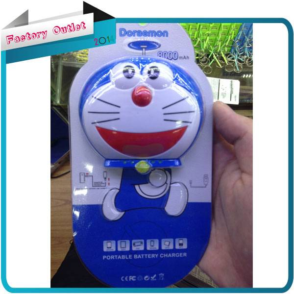 5200mah doraemon Battery charger Power Bank for iPhone iPod Samsung HTC with micro usb cable