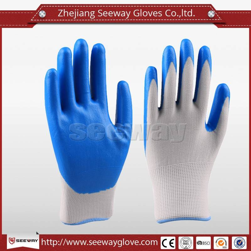 SeeWay Foam Nitrile Coated Palm Oil Chemical Resistant Work Goves